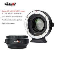 Viltrox EF-FX2 Focal reductor de Auto-lente adaptador 0.71x para Canon EF lente FUJIFILM X-T3 X-PRO2 X-T100 X-H1 X-A20