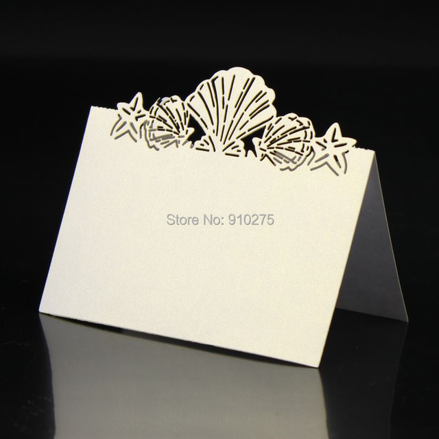 200 PCS Laser Cut Summer Beach Wedding Table Decoration Place Cards ...