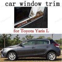 Janela Guarnição Decoração Tiras Acessórios Do Exterior Do Carro para Toyota Yaris L Aço Inoxidável