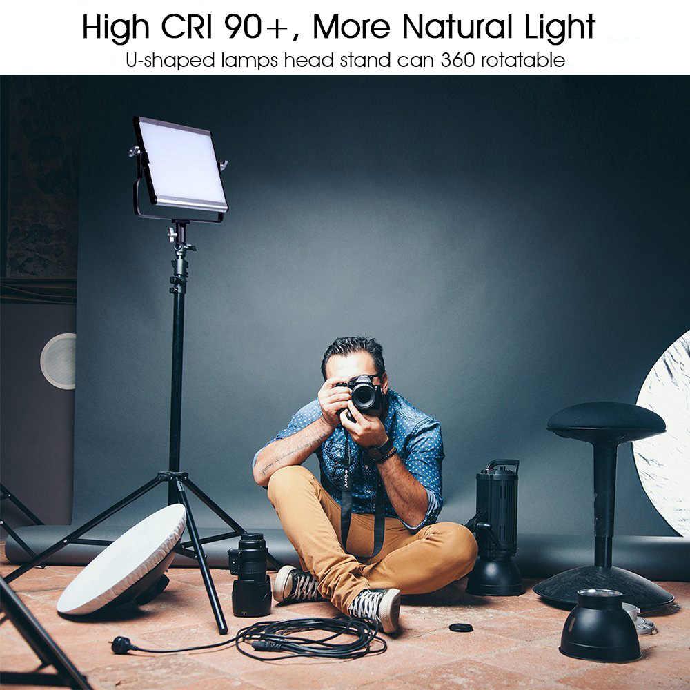 Capsaver L4500 LEVOU Kit De Luz de Vídeo 95 15W CRI Regulável 3200 K-5600 K Estúdio de Fotografia Lâmpadas De Metal painel com Tripé para Atirar Do Youtube