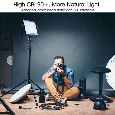 capsaver L4500 LED Video Light Kit Dimmable 3200K-5600K 15W CRI 95 Studio Photo Lamps Metal Panel with Tripod for Youtube Shoot Multan