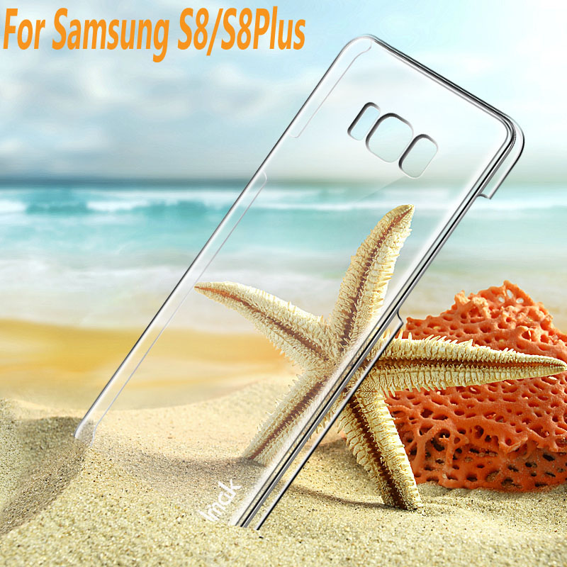 Phone Case For Samsung S8 G9500 font b IMAK b font Clear Crystal Hard case Cover