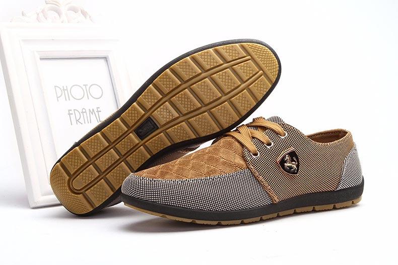 18 Fashion Canvas Shoes Men Casual Shoes Summer Breathable Yellow Comfortbale Espadrilles Sneakers Men Flats Shoes Big Size 6