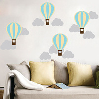 D415 Luchtballon Wolken DIY Vinyl Moderne Art Wall Sticker Verwisselbare Muurschildering voor Kinderkamer Nursery Home Decor