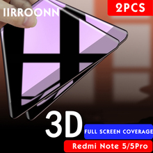 2Pcs/lot Full Cover Screen Protector For Redmi Note 5 Note5Pro Tempered Glass Xiaomi 5plus IIRROONN