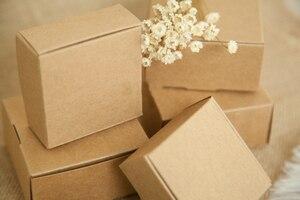 Image 4 - 500 cái 4*4*2 cm nâu kraft hộp giấy cho kẹo/thực phẩm/wedding/đồ trang sức hộp quà tặng bao bì display hộp diy vòng cổ/nhẫn lưu trữ