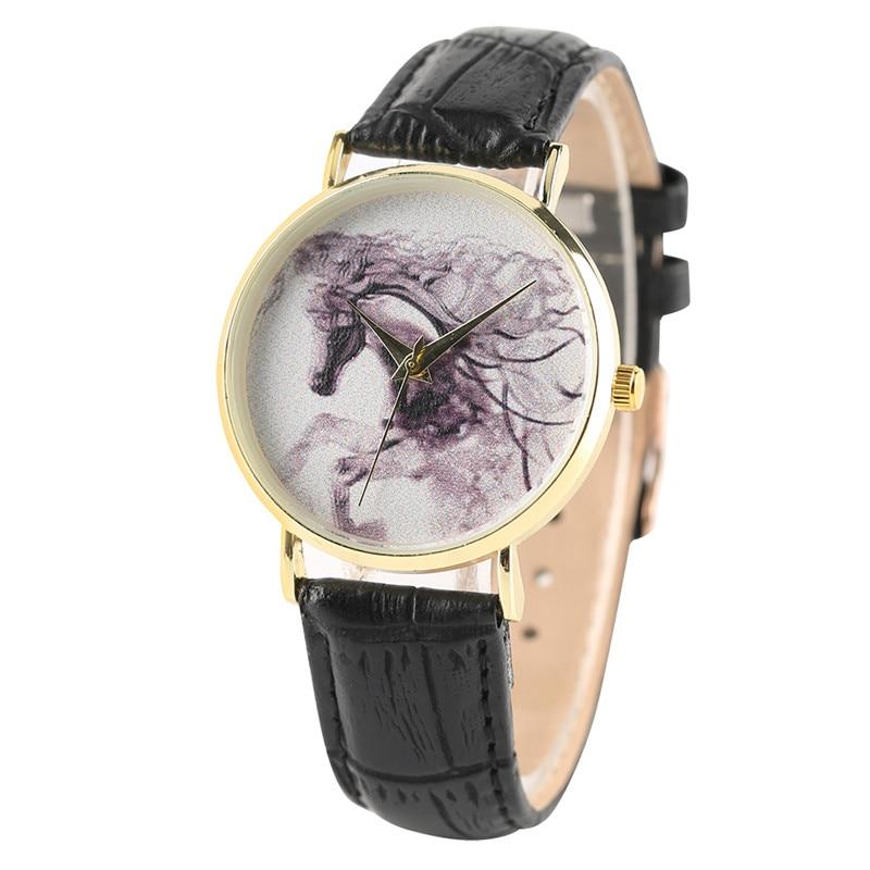 Twórcze kobiety zegarki Horse Ink Emblemat skórzany Bangle Ladies - Zegarki damskie - Zdjęcie 4