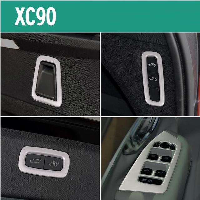 for Volvo xc90 Interior Refit Lift Switch Panel Tail Box Keys Decorative stickers xc90 Fittings car styling