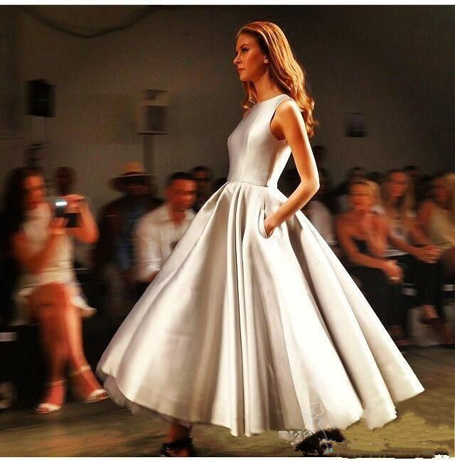 Evening Gown Wedding: Elegant Short Evening Gown Plus Size 2016 Tea Length Prom