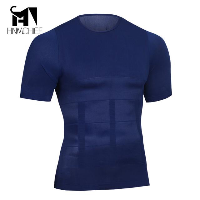 Shapers emagrecimento shaper do corpo dos homens verão camiseta casual secagem rápida underwear shapewear cintura cinturão dos homens pro compressão curto