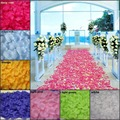 Top selling 1000 pcs/10 Bag Rose Flower Petals Leaves Wedding Decorations Party Festival Table Confetti Decor 9 colors