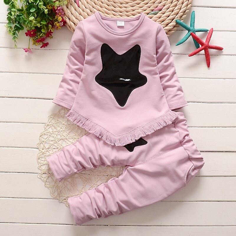 BibiCola girls clothes sets cotton casual bebe sport suit star fashion top+pants 2pcs outfits suit autumn children clothing sets