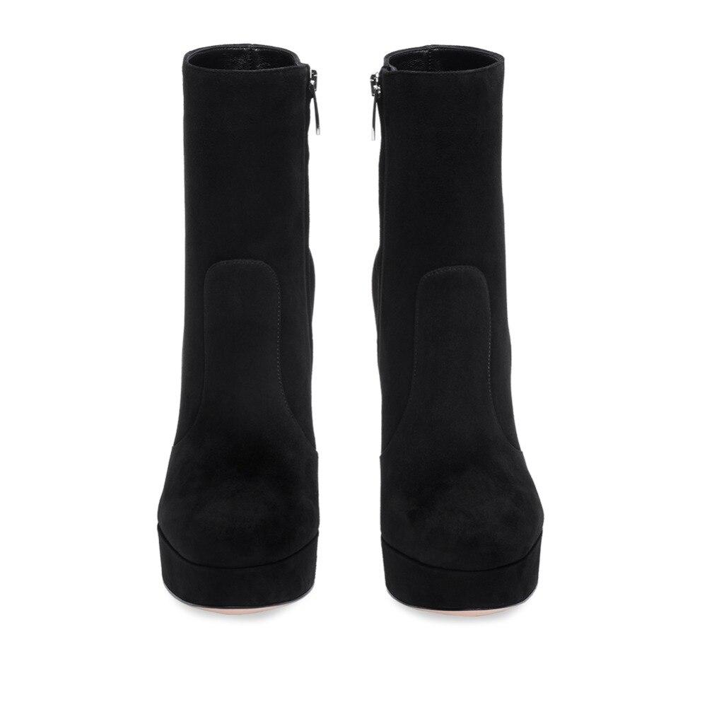 643afd5f006 Fashion Women Ladies Round Toe High Heel Zip Up Ankle Boots Autumn Winter  Block Heel Platform. sku  32916938047
