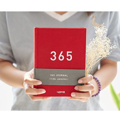 LENWA My Year Planning Book Notebook 365 Cloth Notepad Diary 1PCS