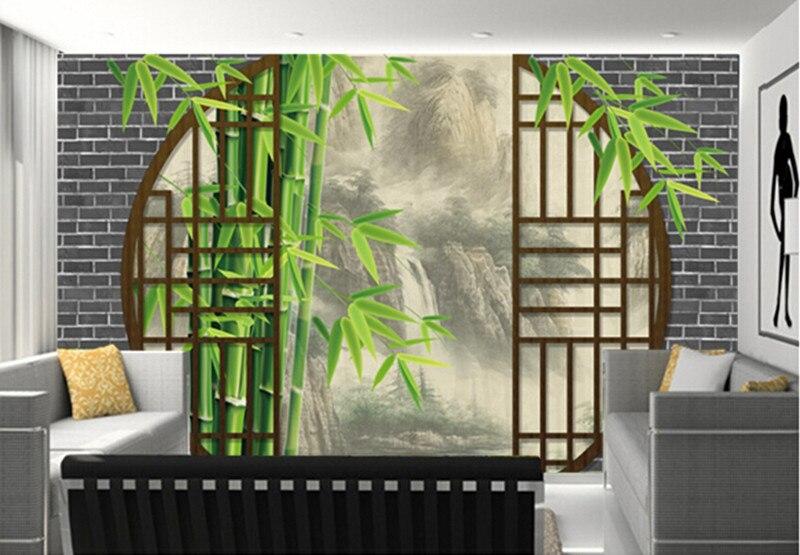 Пользовательские 3D фрески, китайский стиль пейзаж, чернила пейзаж за дверью Papel де Parede, гостиная ТВ стены спальне обои