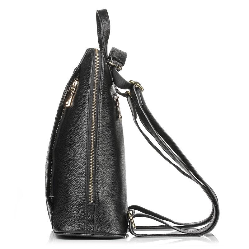 Zency หนังแท้ 100% กระเป๋าเป้สะพายหลัง Ladies รูปแบบจระเข้ผู้หญิงกระเป๋าเป้สะพายหลังโน้ตบุ๊ค Schoolbags กระเป๋าเดินทางคุณภาพสูง-ใน กระเป๋าเป้ จาก สัมภาระและกระเป๋า บน   3