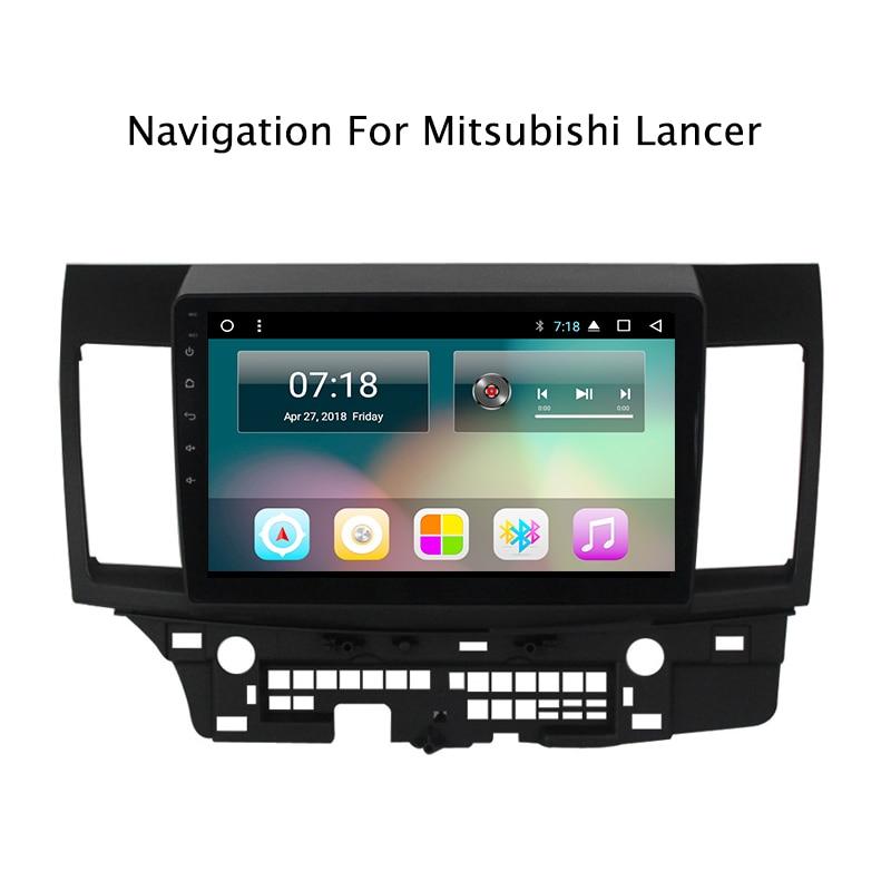 """10.1 """"רכב GPS עבור מיצובישי לנסר 2010-2016 אנדרואיד 8.0 Wifi שמונה אוקטה Core אוטומטי סטריאו Navi רדיו מולטימדיה MP5 נגן"""