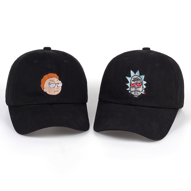 Unisex Brand Animation Rick and Morty Dad Hat Morty Cap Adjustable Rick Baseball Cap Casquette High Quality bone Snapback Caps стоимость