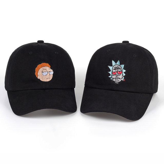 419e37aeab5 Unisex Brand Animation Rick and Morty Dad Hat Morty Cap Adjustable Rick Baseball  Cap Casquette High Quality bone Snapback Caps
