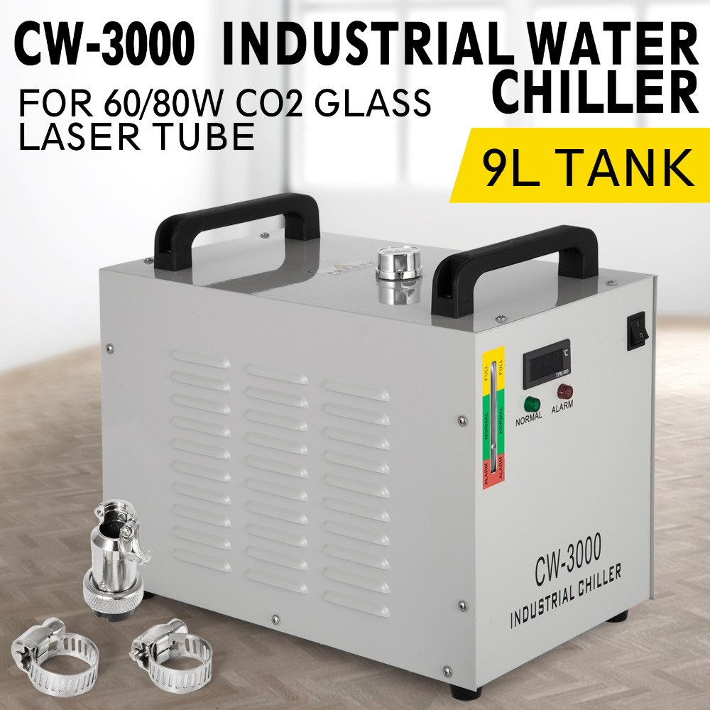 220V 50Hz/60Hz CW-3000 Thermolysis Industrial Water Cooler Chiller For CNC/ Laser Engraver Engraving Machines 60W/80W