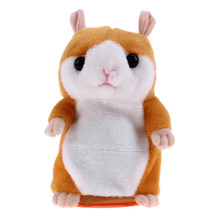 1 Pcs Talking Hamster Plush Toy Cute Speak Talking Sound Record Educational Interactive Toys for Children Kids Birthday Gift(China)