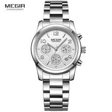 MEGIR クロノグラフ女性の腕時計レロジオ Feminino 高級ブランドレディーススポーツ腕時計時計愛好家の腕時計時間 xfcs