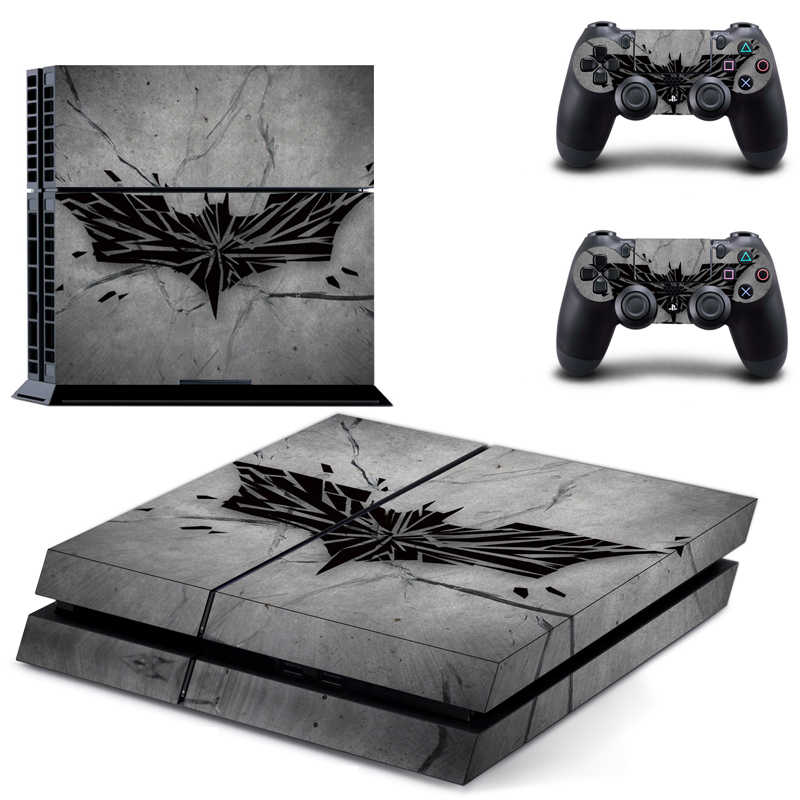 Batman Style Vinyl Skins Sticker for Sony PS4 PlayStation 4 and 2 Controllers Skins Cover DPTM0471