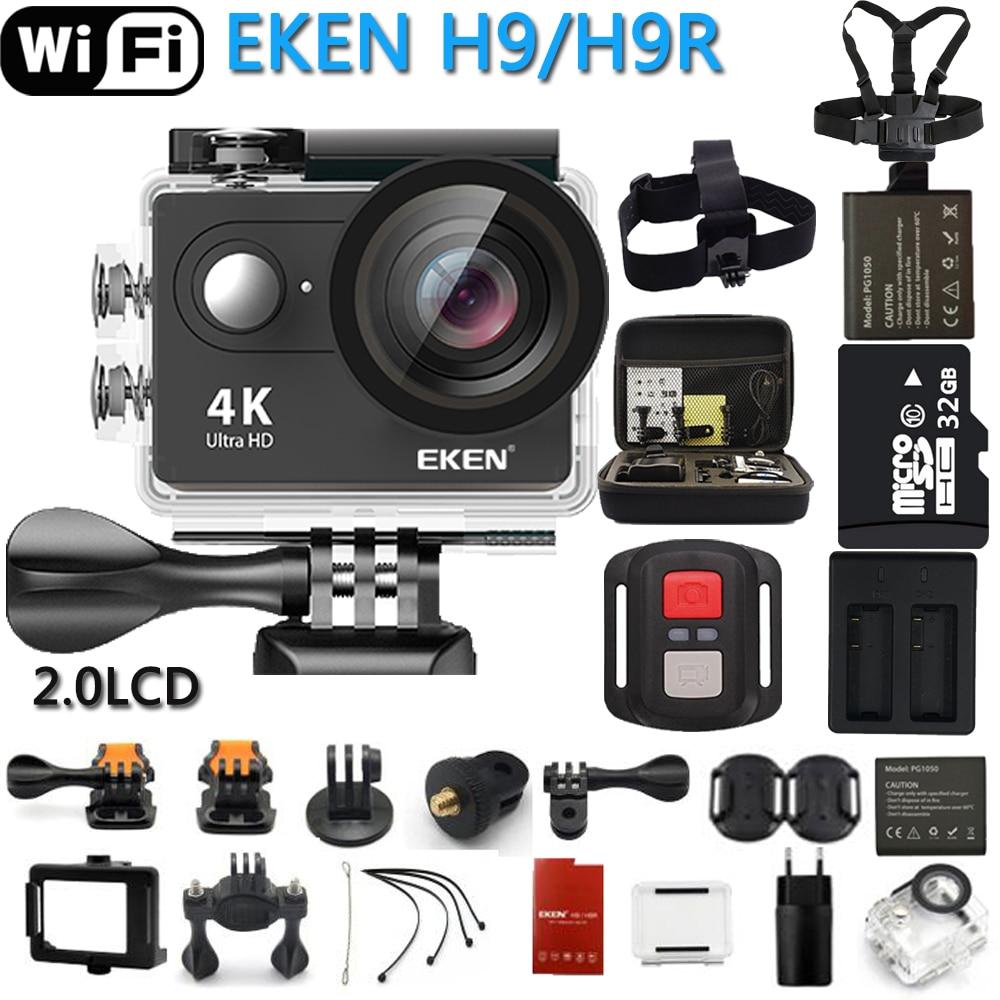 Original EKEN Action Camera eken H9R/H9 Ultra HD 4 k WiFi Controle Remoto Sports Video Camcorder DVR DV ir pro Câmera À Prova D' Água