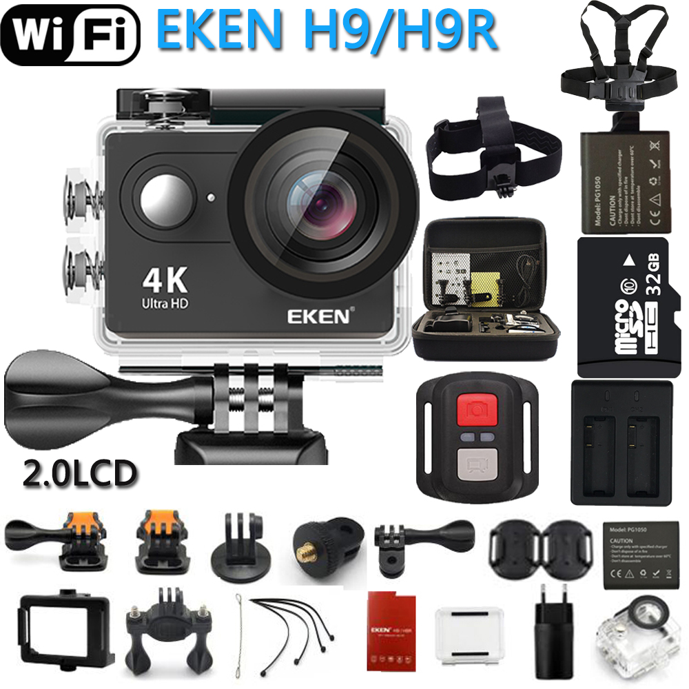 Original EKEN Action Camera eken H9R / H9 Ultra HD 4K WiFi Remote Control Sports Video Camcorder DVR DV go Waterproof pro Camera maison kitsune