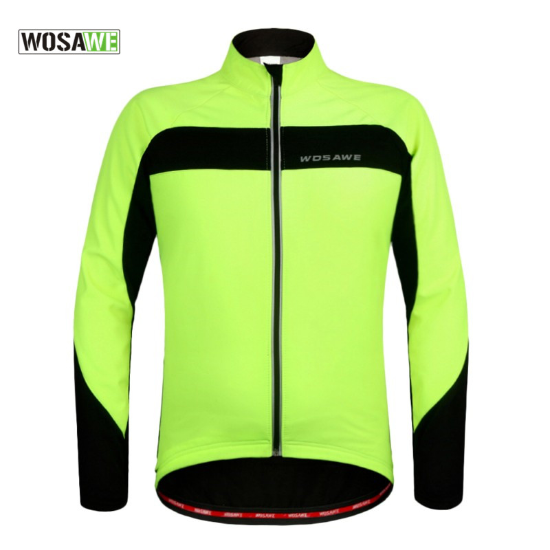 Wosawe Outdoor Sports Windproof Winter Long Sleeve Cycling Jacket Unisex Fleece Thermal MTB Riding Bike Jersey Men's Coat  wosawe outdoor sports windproof winter long sleeve cycling jacket unisex fleece thermal mtb riding bike jersey men s coat