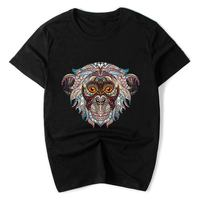 PT1 2018 Men Tshirt O Neck Cotton Clothing Regular Animal Print Creative Animal Summer