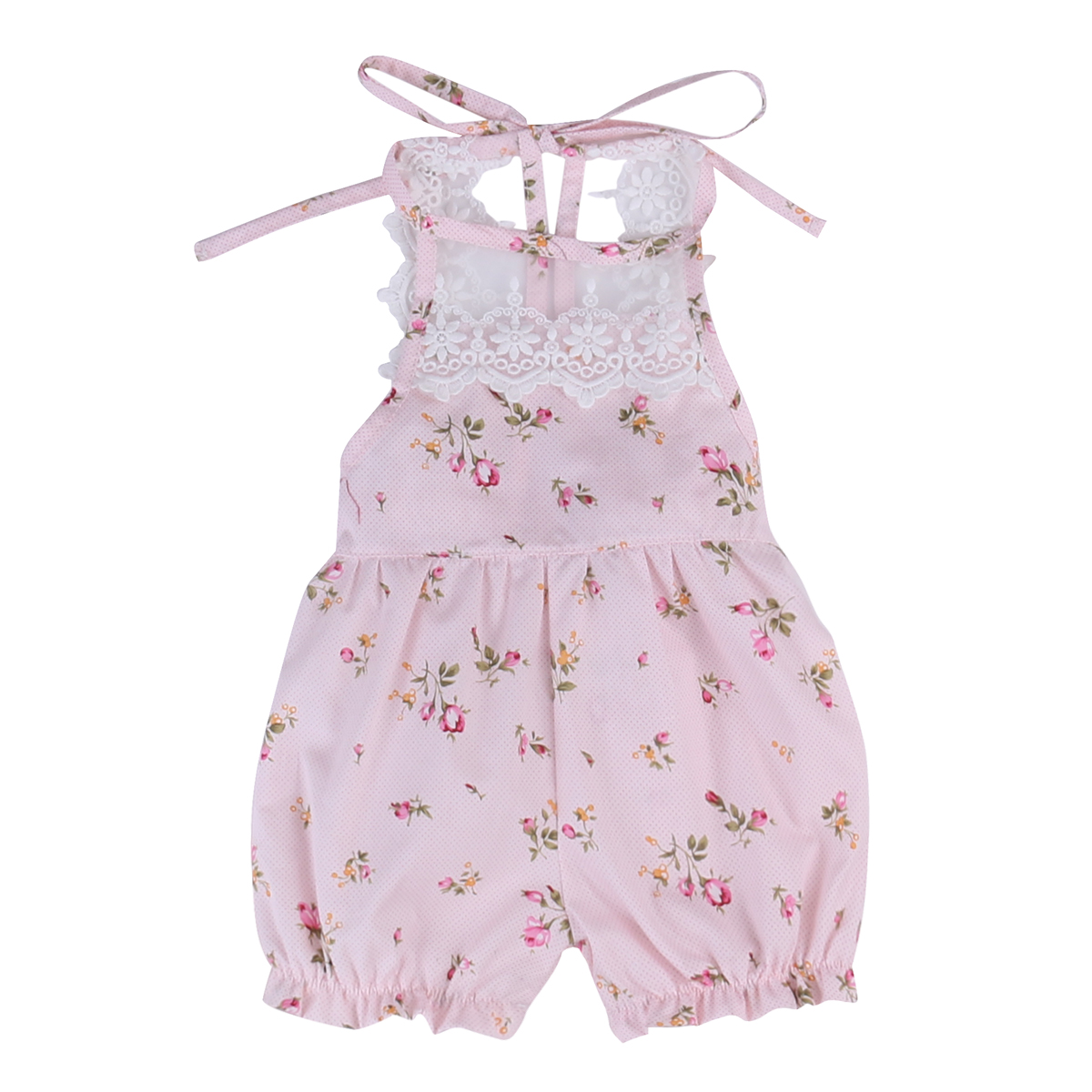Newborn Baby Girls Lace Floral Romper Jumpsuit Kids Girls Cute Cotton Summer Sunsuit Clothes Outfits pudcoco newborn infant baby girls clothes short sleeve floral romper headband summer cute cotton one piece clothes