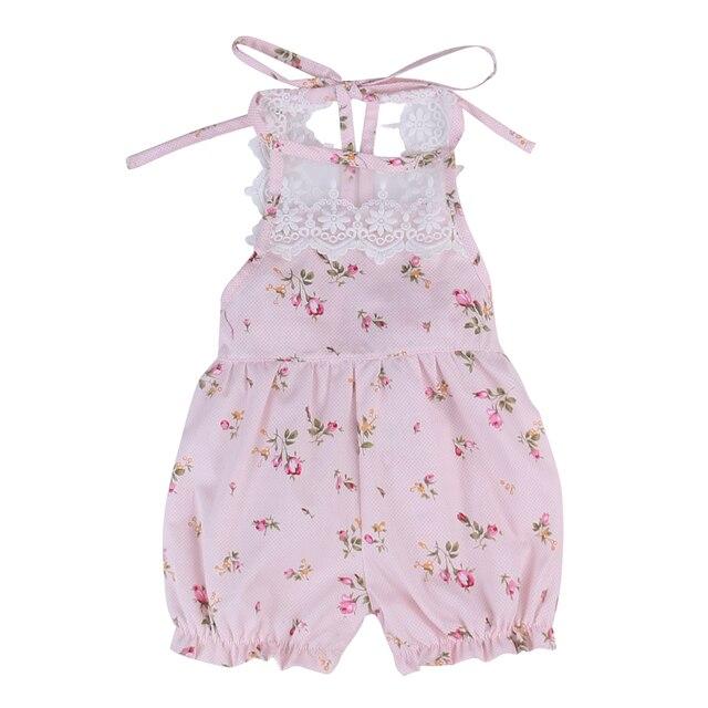 d56eb941f75 Newborn Baby Girls Lace Floral Romper Jumpsuit Kids Girls Cute Cotton  Summer Sunsuit Clothes Outfits