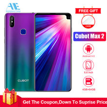 Cubot Max 2 6.8 Inch HD 19:9 4GB 64GB MT6762 Octa Core Smartphone Android 9.0 5000mAh Dual Rear Cameras 6P Lens 4G LTE Cellphone(China)