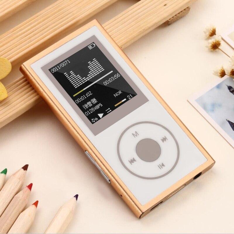 16g Metall Bluetooth Mp4 Player 1,8 bildschirm Hifi Verlustfreie Drahtlose Bluetooth Player Eingebauter Lautsprecher Fm Radio Audio Video Player Starke Verpackung Unterhaltungselektronik
