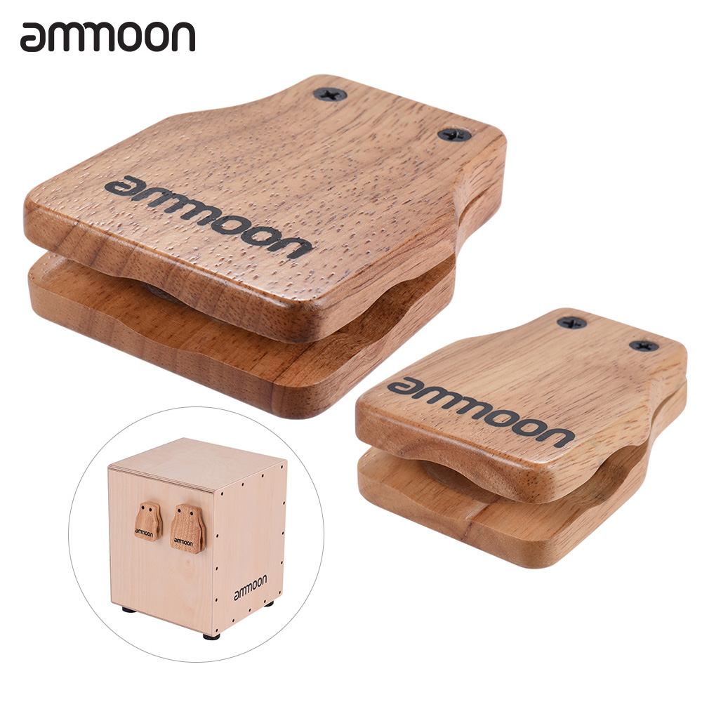 buy ammoon large medium 2pcs cajon box drum companion accessory castanets for. Black Bedroom Furniture Sets. Home Design Ideas