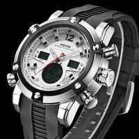 WEIDE Luxury Brand Watches Men Military Quartz Sports Watch Multifunction silicone Waterproof Analog Digital Casual Wristwatches