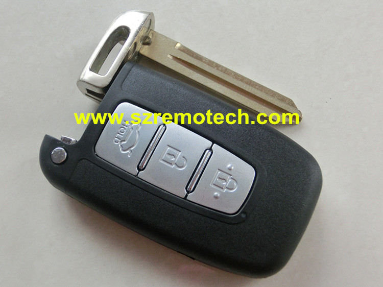 Free Shipping Quality New Remote Key blank Smart Card cover 3 Button Keyless Entry Fob shell Left blade Fit For Hyudai