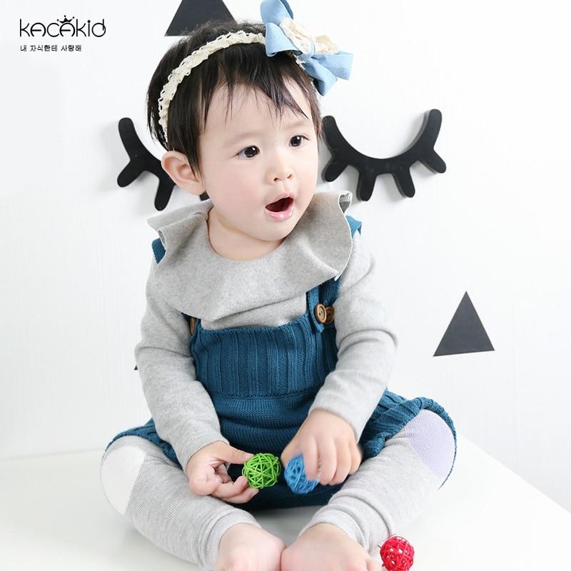 cc097bb61 Kacakid Spring new baby boy girls Bodysuits kids wool knit ...