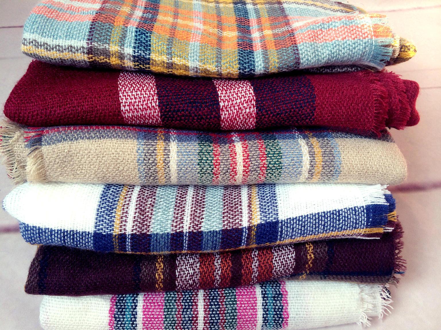 Winter Scarf 2016 font b Tartan b font Plaid Cashmere Scarf Pashmina New Designer Blanket Scarf
