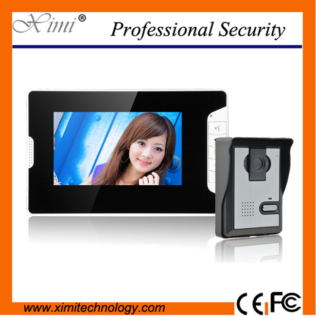 7inch video door phone system wired video intercom high quality door bell access control color screen wired video door phones exported quality screen printing frame 7 5x10 inch 19x25cm wholesale price door to door
