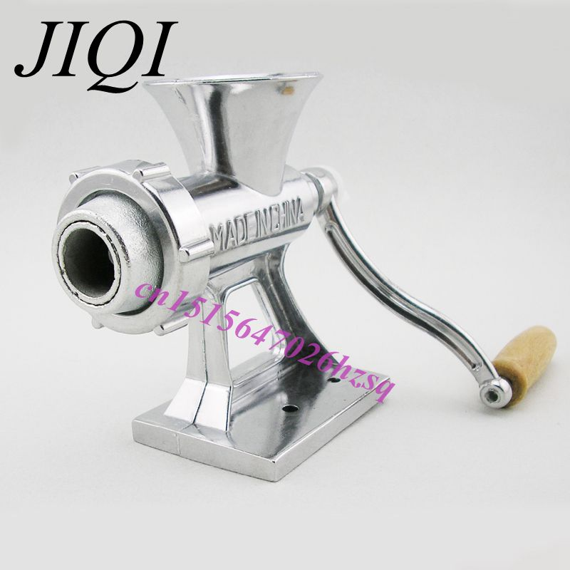 JIQI Hand Manual Meat Grinder Mincer Machine Sausage Table Crank Tool for Home Kitchen Cutter Slicer Beef