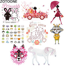 Cartoon car iron sticker for clothing  sequin patches Horse small animal diy patch Eco-Friendly on transfers D