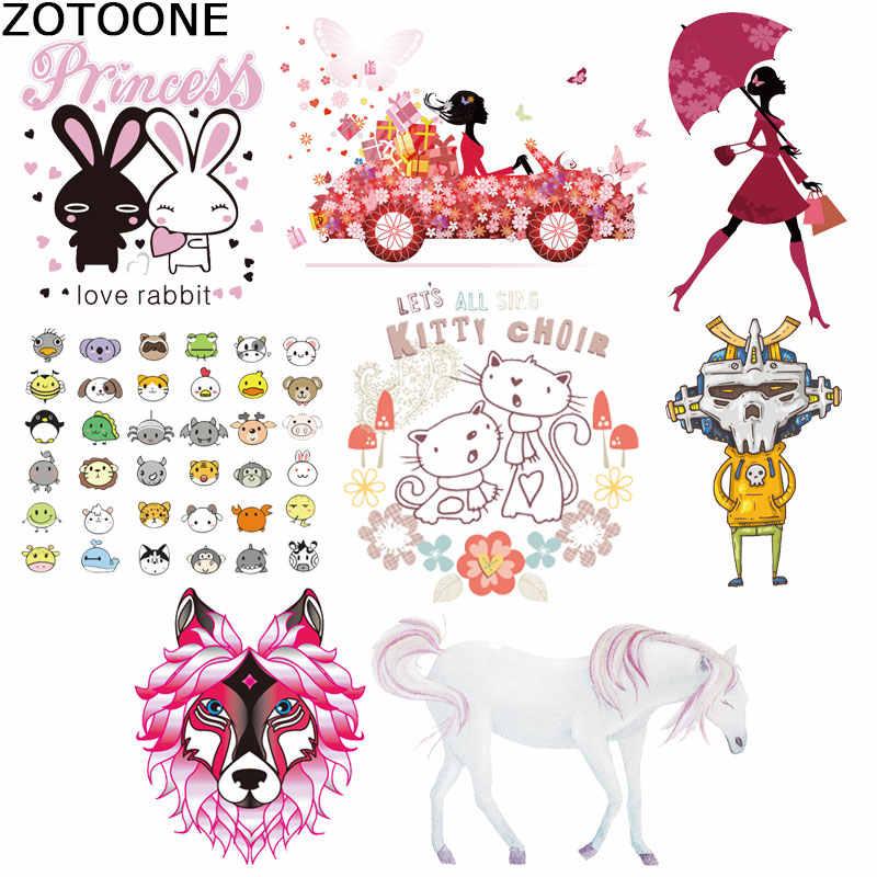 Karikatür araba demir etiket giyim payetli yamalar at küçük hayvan diy yama çevre dostu demir giyim için transferler üzerinde D