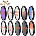 Knightx 52mm 58mm 67mm 72mm 77mm gradual filtro de color azul cielo uv cpl fld filtro de la lente para canon eos 1200d 750d 700d 600d lente