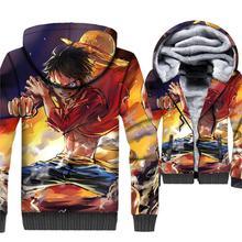 Monkey D Luffy Hoodie Men One Piece 3D Print Hoodies Anime Sweatshirt Winter Fleece Jacket The Pirate King Trafalgar Law Coat