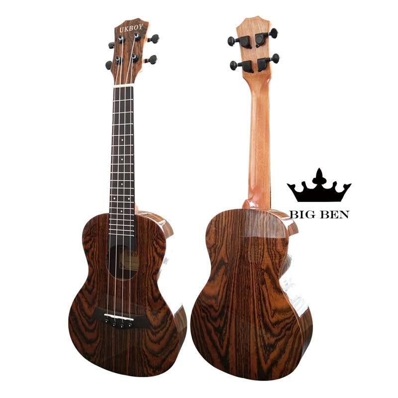 23 pouces papillon bois 18 Fret ukulélé 23 pouces petite guitare hawaïenne guitare palissandre lumineux petite guitare boeuf bone 23 pouces