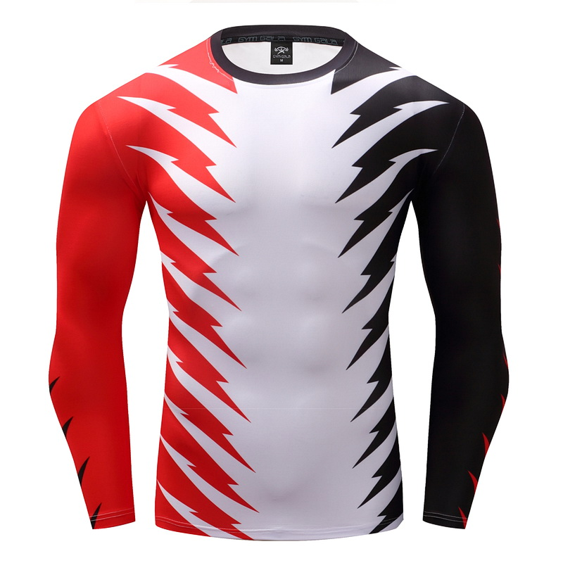 2017 design Compression font b Shirt b font 3D Printed color T font b shirts b