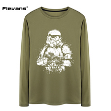Flevans 2017 New Man Cotton Clothing T Shirts Star Wars Stormtroopers Casual T-shirt Cotton Long-sleeved Tees Tops Male T Shirt