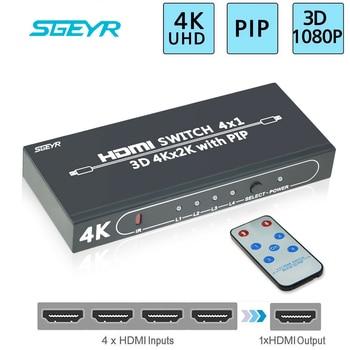 4K 4 port HDMI PIP Switch 4 Input 1 Output 4x1 HDMI Switcher Switch